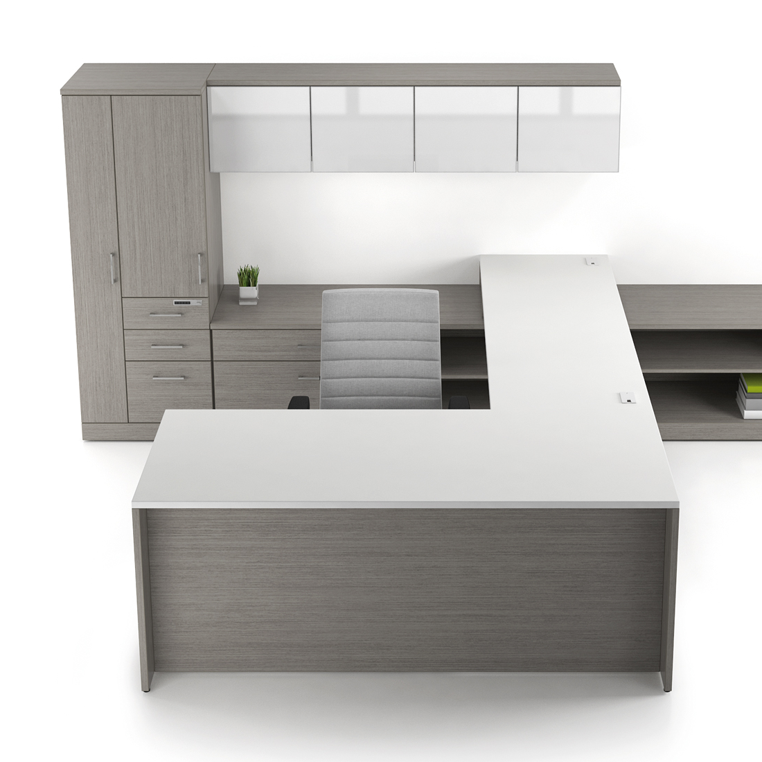 Private Office with Layered Surface